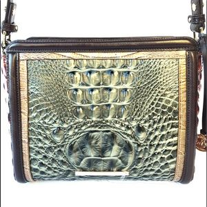 BRAHMIN HEARTWOOD COLLECTION IN SERPENTINE & GOLD